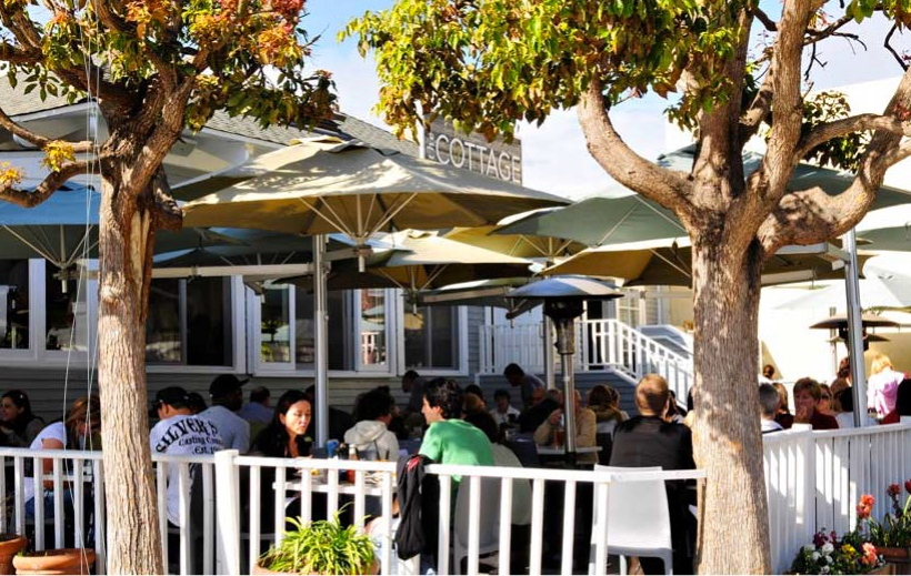 The Cottage, a restaurant in La Jolla, California.