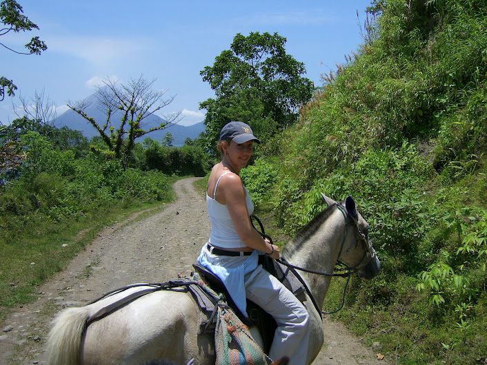 Horseback riding in Costa Rica, 2005.
