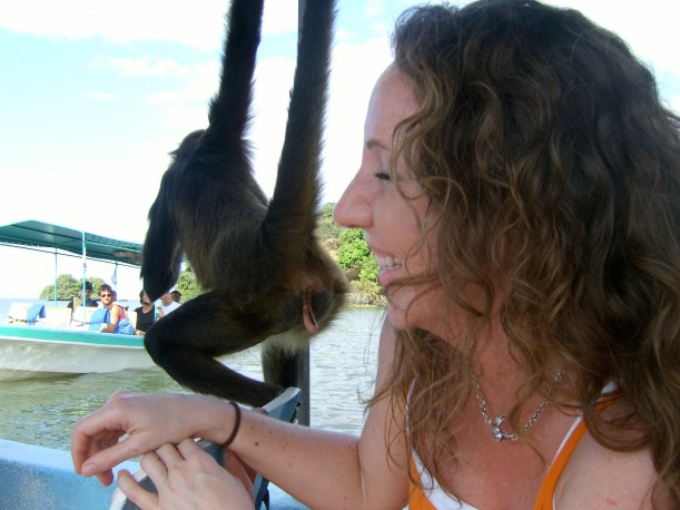 Nicaragua, 2009. This monkey kept sticking his butt in my face, I could not stop laughing.